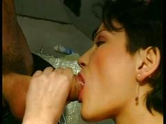 Hot brunette fucked by cowboy!