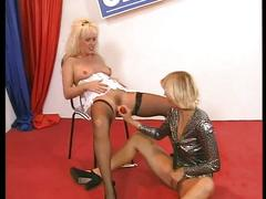 lesbian, milf, anal toy, ass fingering, dildo, fingering pussy, hairy ass, hairy pussy, huge dildo, platinum blonde, toying pussy, vibrator