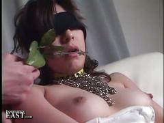 Uncensored japanese erotic bondage sex with blindfolded babe