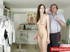 Blonde babe kattie gold's pussy exam in hd
