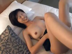 Hot asian babe fucked hard after gettting her hairy pussy played