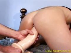 Double dildo-cock penetrations