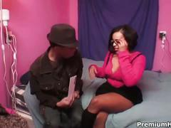 Cock hungry christina copafeel takes on large dick