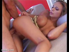 hardcore, pussy, big cock, brown hair, piledriver, shaved pussy, spoon