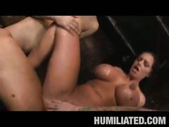 Group hardcore sex tube with two horny sluts !