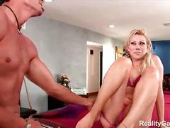 Flexible samantha sin fucked hard by a horny dude