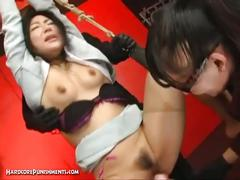 Chihiro asou is strung up and tortured with vibrators