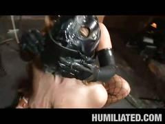 Aurora snow gets tied up and humiliated