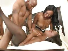 big dick, blowjob, ebony, hardcore, stockings, threesome, 3some, afro, big black dick, big cock, black pussy, ebony blowjob, ebony fuck, ebony threesome, face fucking, ffm, piledriver, rough fuck