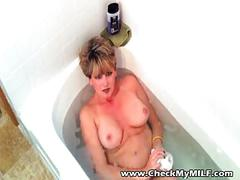 Sexy milf playing sucking cock and swallowing cum
