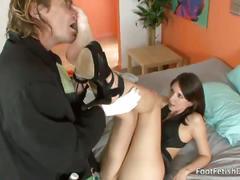 Hot sexy feet brunette katie jordin pussy eaten
