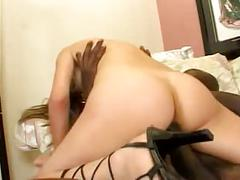 Sexy latin interracial fucking pussy and anal