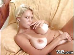 Seductive blonde milf fucks a dildo