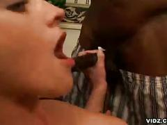 amateur, big dick, blonde, blowjob, ebony, hardcore, interracial, threesome, 3some, big black dick, black on white, deepthroat, face fucking, gagging, girl next door, missionary, mmf, platinum blonde, sloppy blowjob, vidz