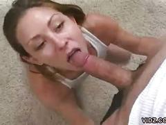 Young amateur babe pov sucking on hard cock
