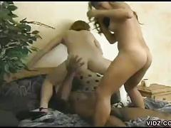 Two sexy chicks give hot loving for one black cock