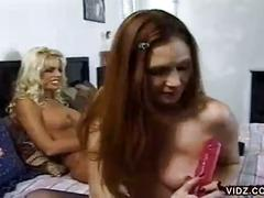 Nikki steele and deva station sucking pussy in hot lesbian video