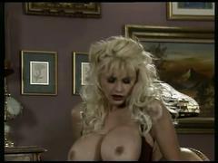Busty blonde milf fucked hard by a stiff cock !