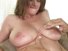Hot babe with huge tits sara stone fucked on her pink pussy