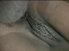 Huge black cock fucking black ass and pussy