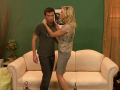 Holly sampson fucked hard on the sofa by lucky dude
