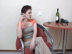 Russian mom 18 brunette mature with a young man
