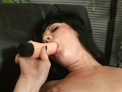 babe, brunette, masturbation, pornstar, solo, toys, ava rose, beauty, brown hair, dildo, glamour, gorgeous, masturbating, naked, teasing