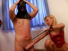 Christina jolie maims helpless cock