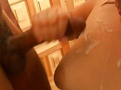 Busty latina sluts love cock slamming pump action