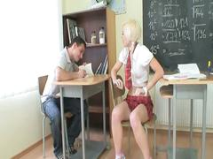 Horny teacher takes advantage of this innocent schoolgirl