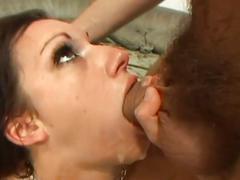Hot hardcore double fucked brunette