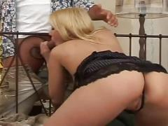 Horny blonde babe fucked very hard by a hard cock