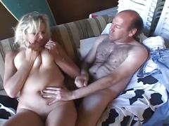 The busty slut get hard fucked by a old man