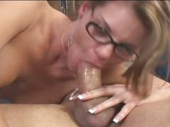 Horny brunette milf fucked by a younger cock