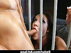 Jasmine and taylor rain prison fucking action