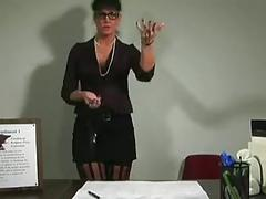 Classroom jerk off for mature teacher.