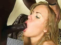Hard anal sex of the european girl with the african guy