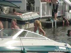 Slutty hot babes' boat party during spring break