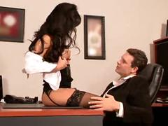 Hot asian secretary fucked on desk