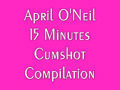 April o'neil cumshot compilation