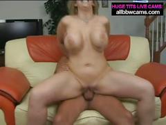 Flexible big tit blonde sucks and fucks