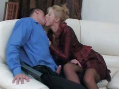 Blonde milf seduces the salesman