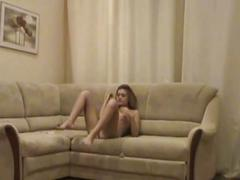 Sexy young amateur blonde teen sucks and fucks