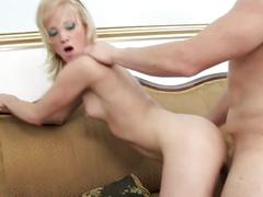Enchanting blonde princess welcomes huge cock to stuff her pussy