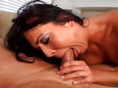 Brunette bitch fucked in the ass with hard cock and toys