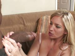 Enormous black boner shoving delirious blonde momma hot cunt