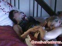 First lesbian experience for teen girl and beautiful blonde milf