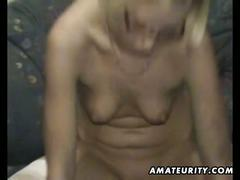 Sexy blonde ex-girlfriend sucks and fucks