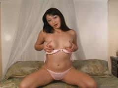 Asian lena lang goes solo with a dildo