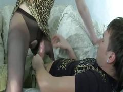 Dude reluctantly seduced by brunette milf